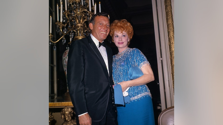 Lucille Ball, actress comedian, with husband Gary Morton.