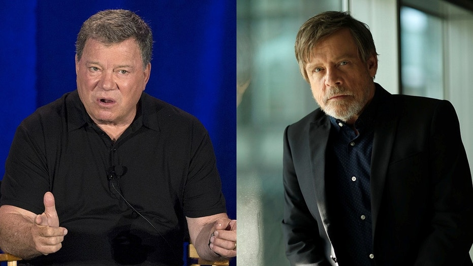 William Shatner teases Mark Hamill about his Hollywood Walk of Fame star.