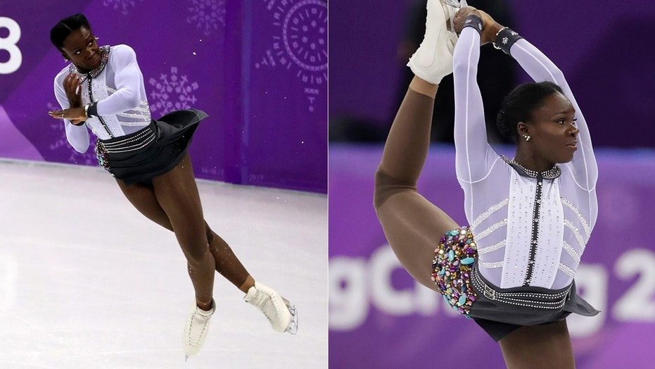 Mae-Berenice Meite changed up her costume in the middle of the womenu0027s free skate  sc 1 st  Fox News & Olympic French figure skater pulls off shocking costume change | Fox ...