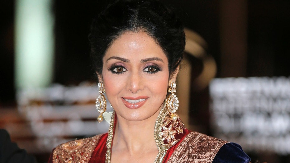 Indian actress Sridevi arrives at the Marrakech International Film Festival in Marrakech, at the Marrakech Congress Palace, Dec. 1, 2012.