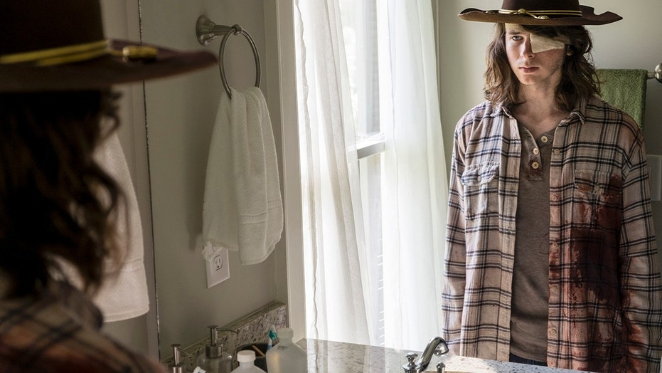 Chandler Riggs as Carl Grimesi - The Walking Dead _ Season 8, Episode 9 - Photo Credit: Gene Page/AMC