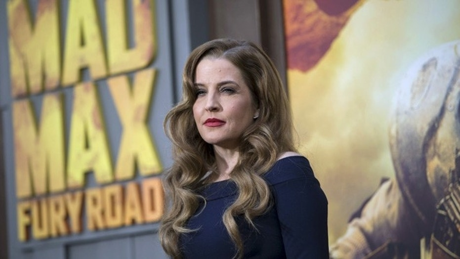 "Singer Lisa Marie Presley poses at the premiere of ""Mad Max: Fury Road"" in Hollywood, California May 7, 2015."