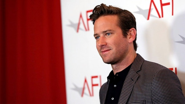 Actor Armie Hammer poses at the AFI AWARDS 2017 luncheon in Los Angeles, California, U.S., January 5, 2018. REUTERS/Mario Anzuoni - RC1B096C8F00