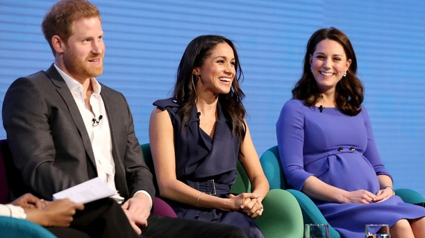 Britain's Prince Harry, his fiancee Meghan Markle and Catherine, Duchess of Cambridge attend the first annual Royal Foundation Forum held at Aviva in London, February 28, 2018 . REUTERS/Chris Jackson/Pool - RC1C29A9CB90