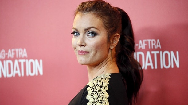Actress Bellamy Young poses at the Screen Actors Guild Foundation's 30th anniversary celebration in Beverly Hills, California November 5, 2015. REUTERS/Danny Moloshok - GF20000047666