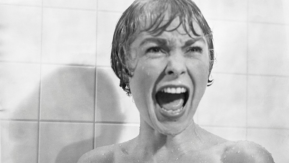 In The Shower Scene From Film Psycho Marion Crane Played By