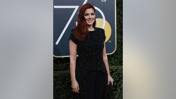 75th Golden Globe Awards – Arrivals – Beverly Hills, California, U.S., 07/01/2018 – Actress Debra Messing. REUTERS/Mario Anzuoni - HP1EE171RMM32