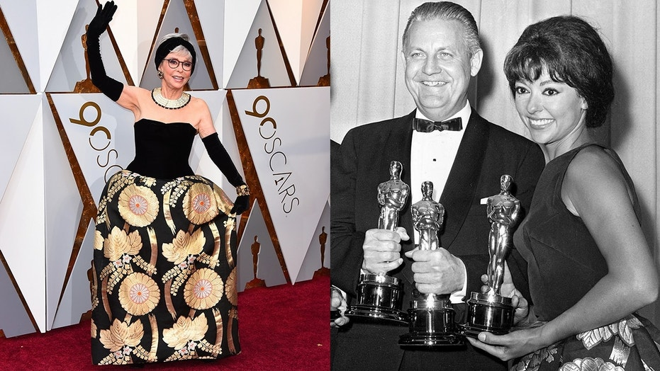 Rita Moreno wears her 1962 Oscars dress 56 years later