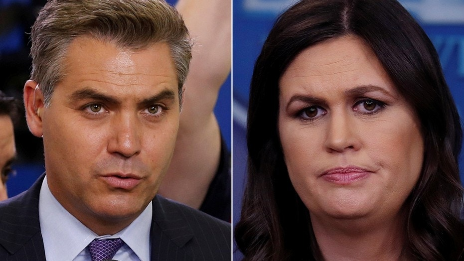 CNN's Jim Acosta and White House press secretary Sarah Sanders once again spat after Acosta told Sanders it was the third press briefing she hadn't called on the cable network.