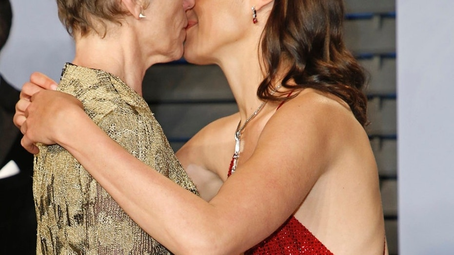 """""""Wonder Woman"""" star Gal Gadot was very eager to thank Oscar winner Frances McDormand for her moving speech Sunday night in Hollywood."""