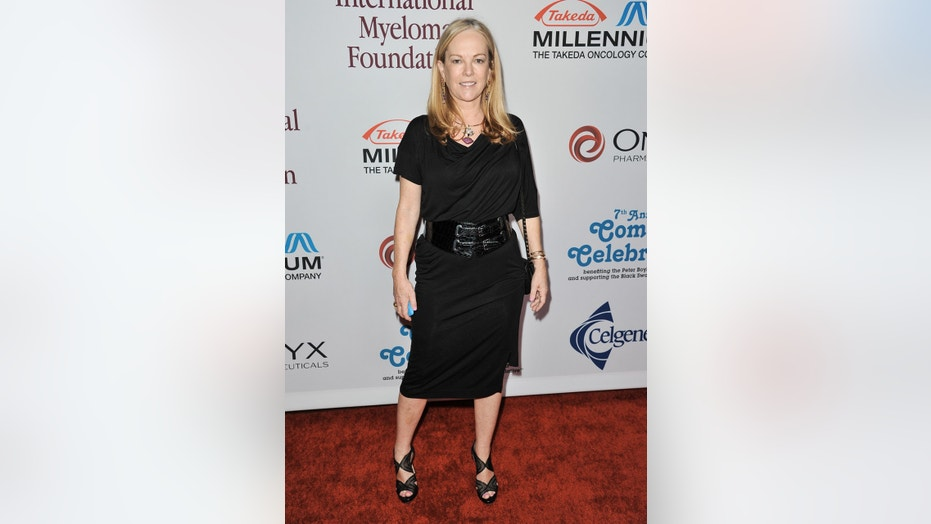 Anne Hearst arrives at the International Myeloma Foundation 7th Annual Comedy Celebration at The Wilshire Ebell Theatre on Saturday, Nov. 9, 2013 in Los Angeles. (Photo by Richard Shotwell/Invision/AP)