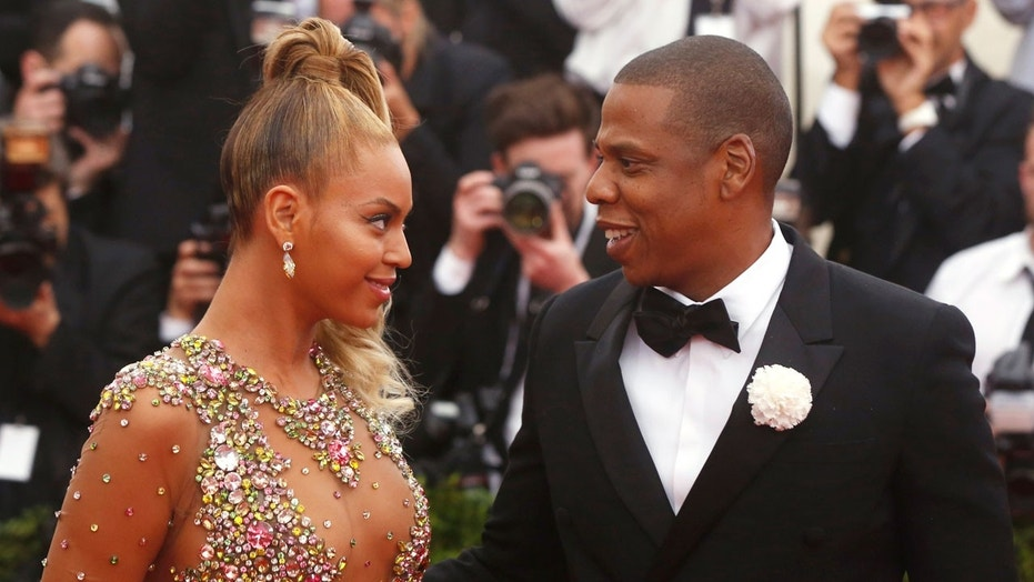 Beyonce and Jay-Z attend the 2015 Met Gala in New York City.