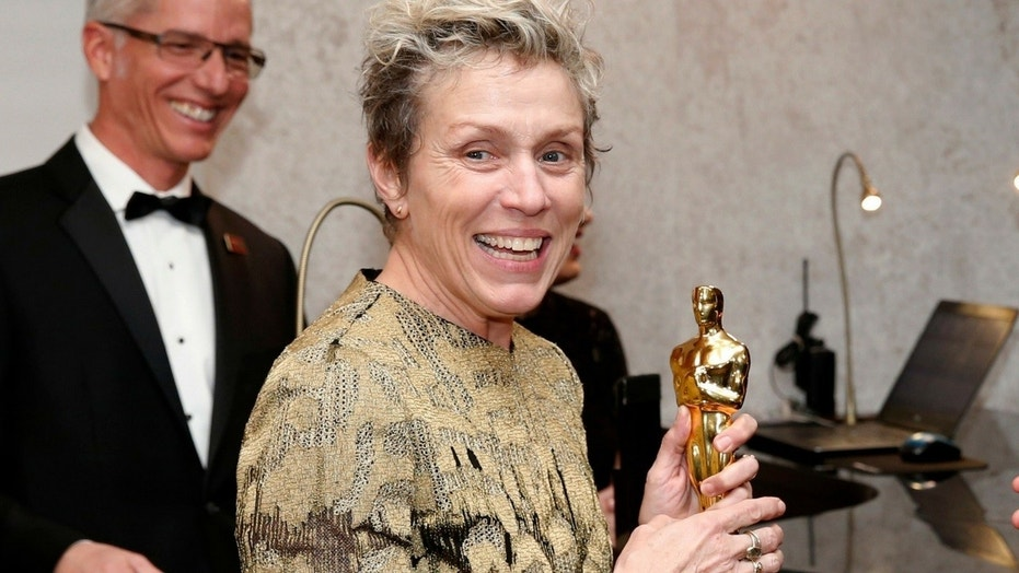 The man accused of stealing Frances McDormand's (pictured) Best Actress Academy Award on Sunday was charged with theft, the Los Angeles County District Attorney's Office said Tuesday.