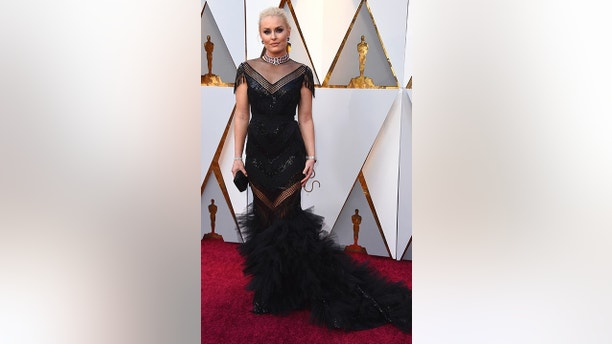 Lindsey Vonn arrives at the Oscars on Sunday, March 4, 2018, at the Dolby Theatre in Los Angeles. (Photo by Jordan Strauss/Invision/AP)