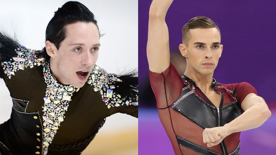 Adam Rippon (right) thinks fellow skater Johnny Weir may be jealous of him.