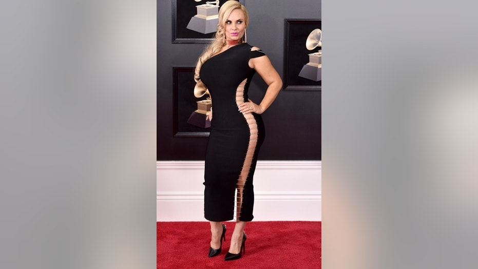 Coco Austin arrives at the 60th annual Grammy Awards at Madison Square Garden on Sunday, Jan. 28, 2018, in New York. (Photo by Evan Agostini/Invision/AP)
