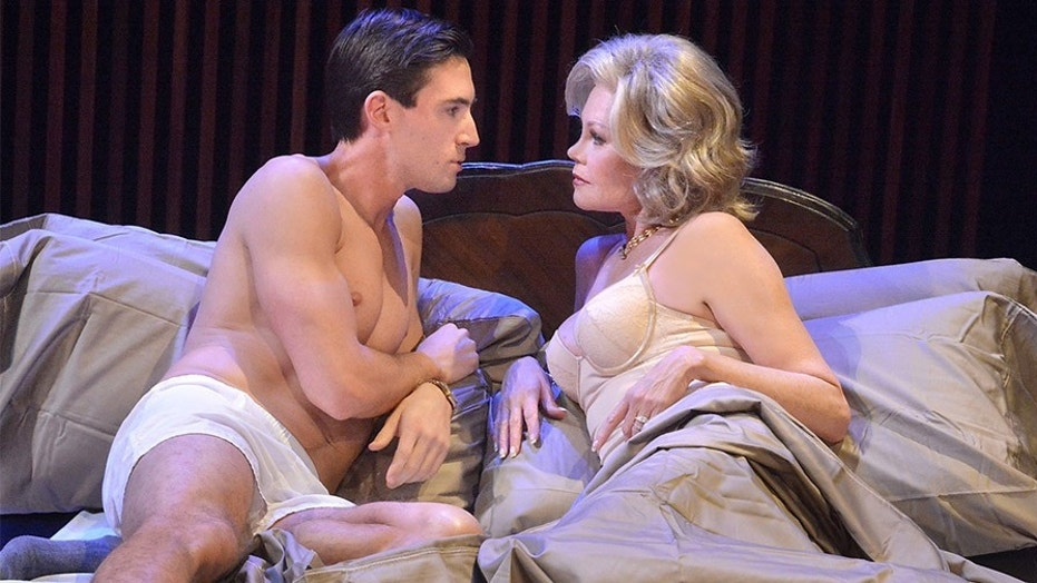 "Nick Tag and Melanie Griffith star in ""The Graduate"" at Laguna Playhouse in California."