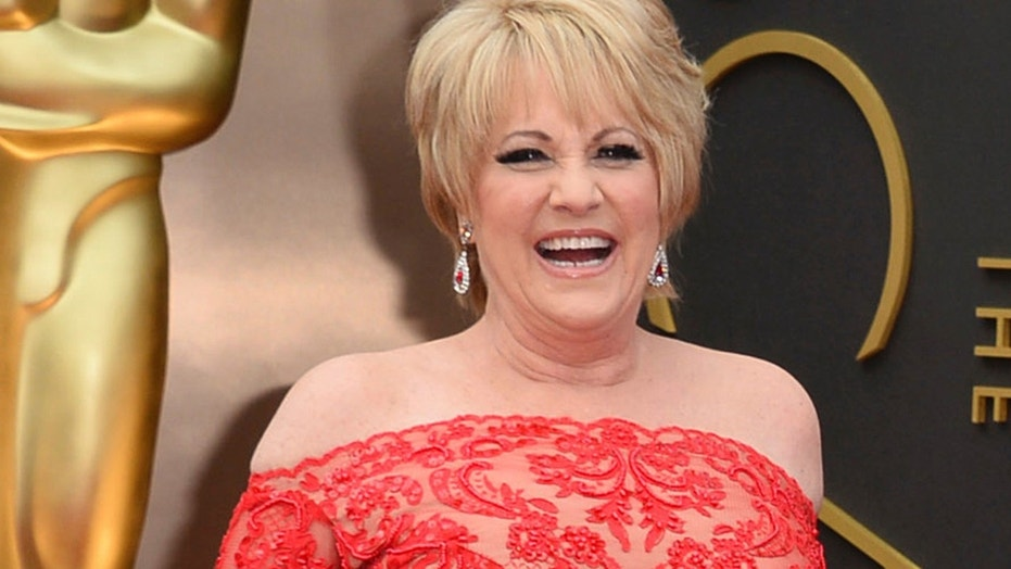 This March 2, 2014, file photo shows Lorna Luft at the Oscars in Los Angeles. Singer Luft, the daughter of Judy Garland, collapsed backstage after a concert in London, Friday, March 9, 2018, and was rushed to the hospital, where she was undergoing tests, a representative said.