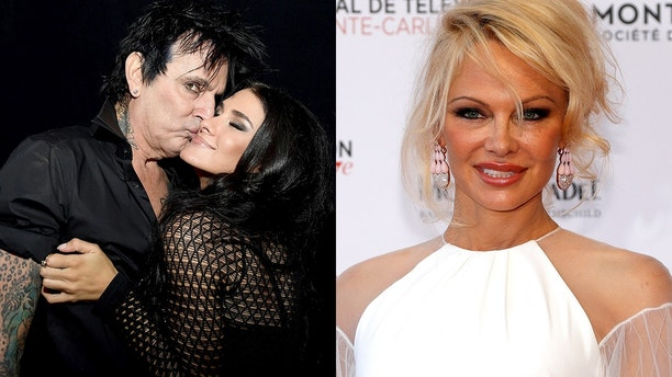 ET HANDOUT tommy lee brittany furlan pamela anderson getty reuters