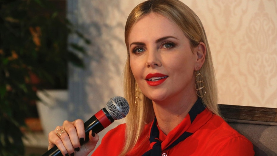 Charlize Theron speaks at Global Education and Skills Forum in Dubai, United Arab Emirates, Saturday, March 17, 2018.