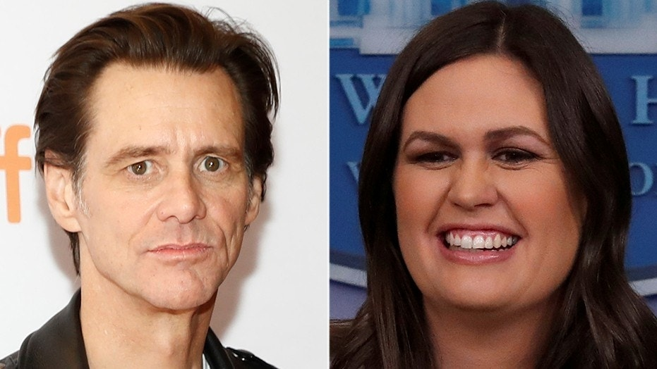 Actor Jim Carrey has painted a portrait of White House Press Secretary Sarah Sanders.