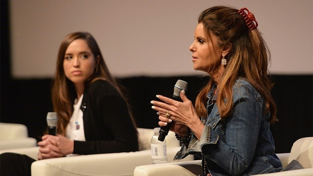 """AUSTIN, TX - MARCH 09:  Christina Schwarzenegger and Maria Shriver attend a Q&A following the """"Take Your Pills"""" premiere during the 2018 SXSW Film Festival on March 9, 2018 in Austin, Texas.  (Photo by Daniel Boczarski/Getty Images for Netflix) *** Local Caption *** Christina Schwarzenegger;Maria Shriver"""