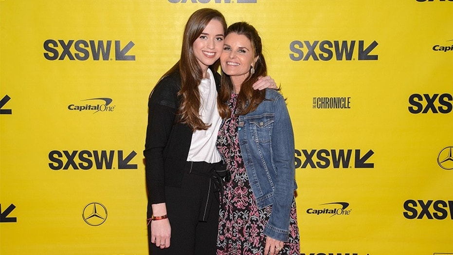 """Producers Christina Schwarzenegger and Maria Shriver attend the """"Take Your Pills"""" red carpet premiere during the 2018 SXSW Film Festival in Austin, Texas."""