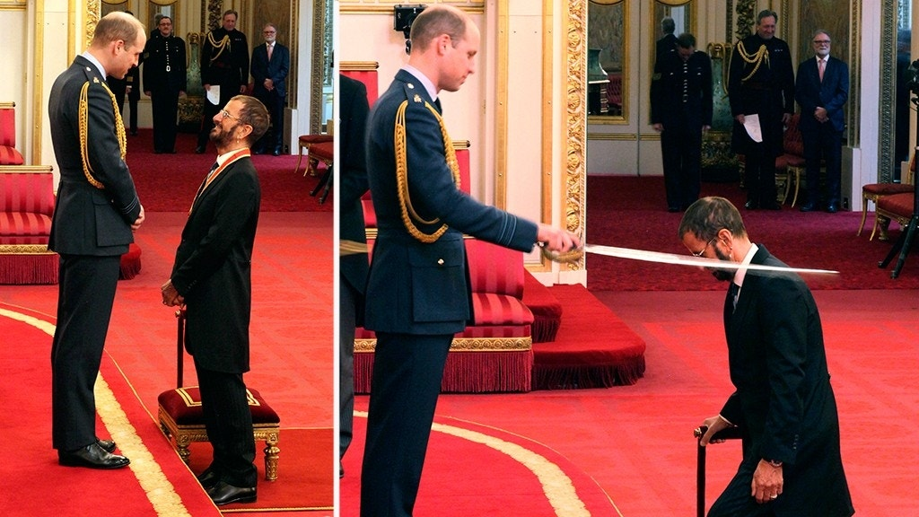 Ringo Starr receives knighthood for services to music