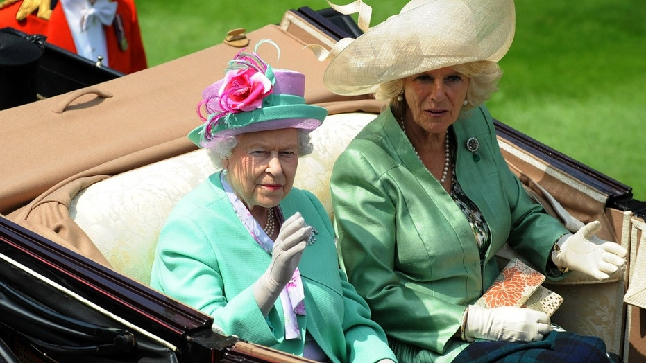 Queen Elizabeth II and Camilla, Duchess of Cornwall arrive for the second day of Royal in 2013.