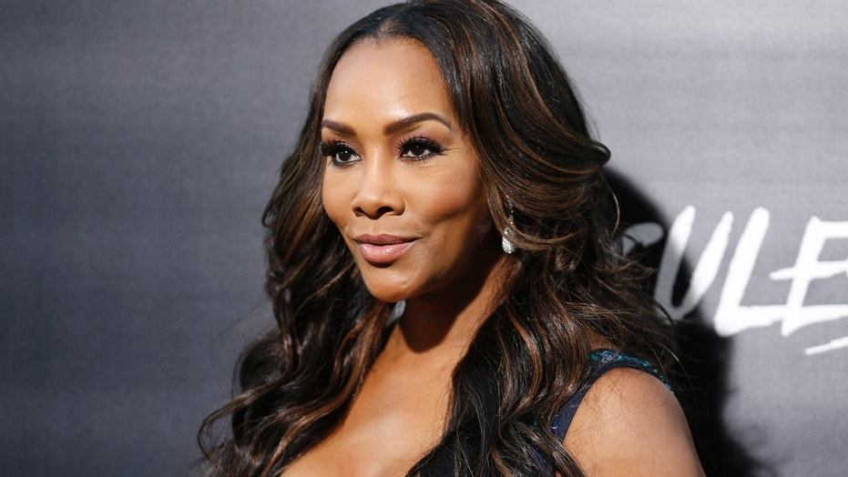 "Actress Vivica Fox poses at the Los Angeles premiere of ""Hercules"" in Hollywood, California July 23, 2014"