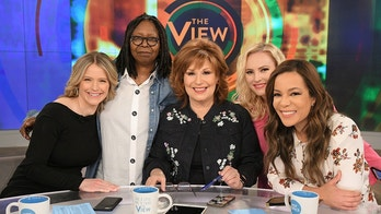 """THE VIEW -  """"The View"""" co-host Sara Haines returns from maternity leave Monday, March 12, 2018.   """"The View"""" airs Monday-Friday (11:00 am-12:00 pm, ET) on the ABC Television Network.    (ABC/Lorenzo Bevilaqua) SARA HAINES, WHOOPI GOLDBERG, JOY BEHAR, MEGHAN MCCAIN, SUNNY HOSTIN"""