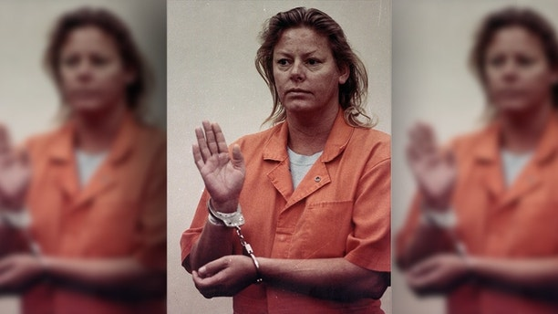 Aileen Carol Wuornos of Daytona Beach, Fla., makes her first appearance before a judge at Volusia County Branch Jail in Daytona Beach, Fla., Thursday, Jan. 17, 1991. Wuornos was being held in connection with the homicides of seven men in the central Florida area. (AP Photo/News-Journal)