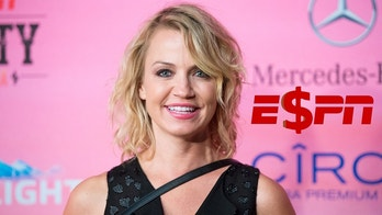 Michelle Beadle arrives at the ESPN Super Bowl XLIX Party on Friday, Jan. 30, 2015 in Scottsdale, Ariz. (Photo by Scott Roth/Invision/AP)