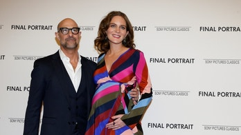 Actor and Director Stanley Tucci arrives with his wife Felicity Blunt for a special screening of 'Final Portrait' in New York, U.S., March 22, 2018. REUTERS/Brendan McDermid - RC17ECE9BAD0