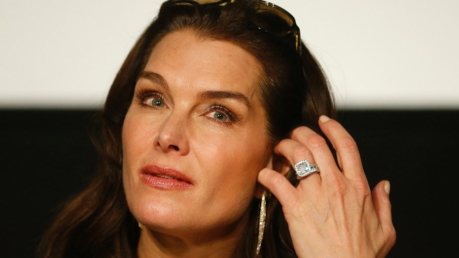 Actress Brooke Shields listens during a news conference the day before attending the traditional Opera Ball in Vienna, Austria, February 3, 2016. REUTERS/Heinz-Peter Bader - LR1EC2311JIA6