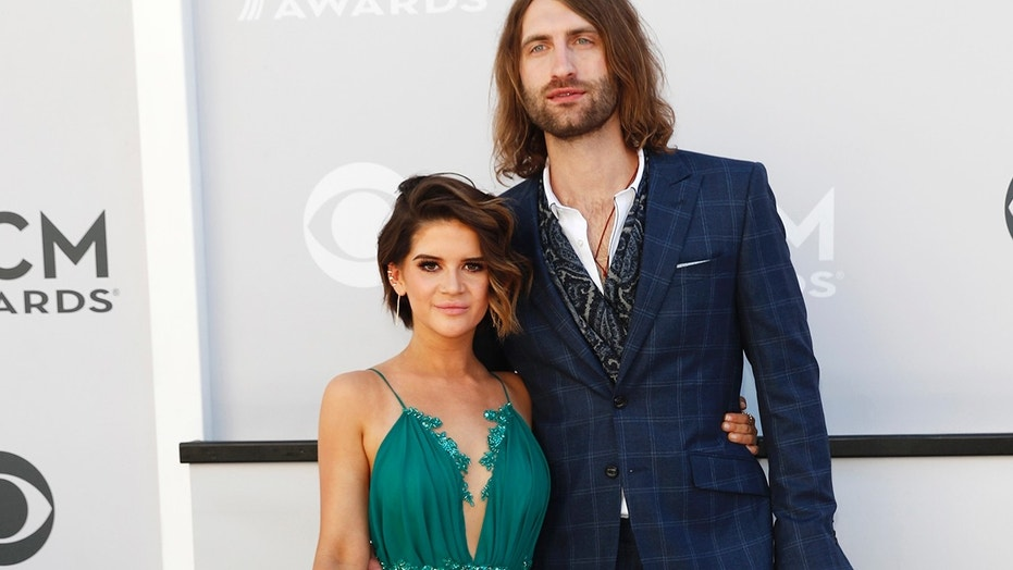 Country stars Maren Morris (left) and Ryan Hurd married in Nashville on March 24, 2018.
