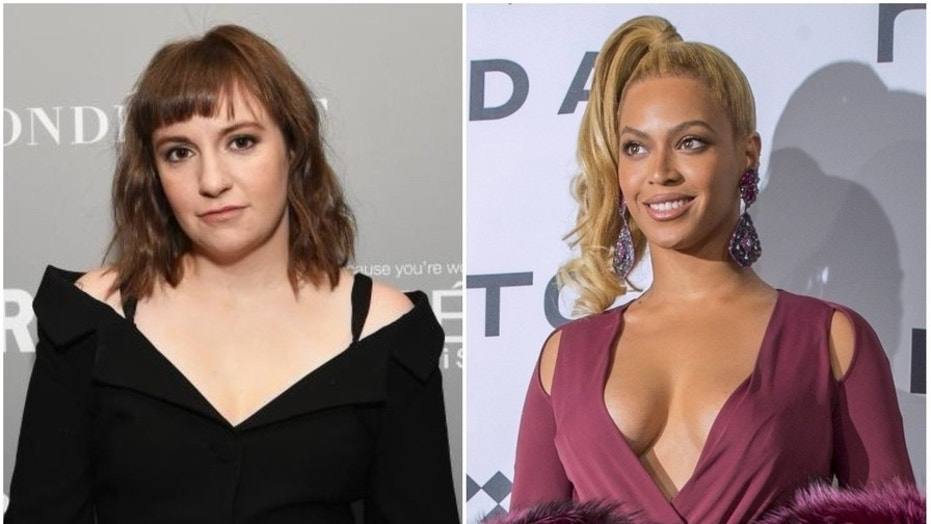 Lena Dunham told fans in a March 27 Twitter post that she did not bite Beyonce's face.