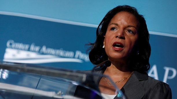 Former National Security Advisor Susan Rice will speak on May 16, 2017 at the Four Seasons Hotel in Washington, DC, USA, via the Center for American Progress Ideas. REUTERS / Aaron P. Bernstein - RC13BD6A69B0