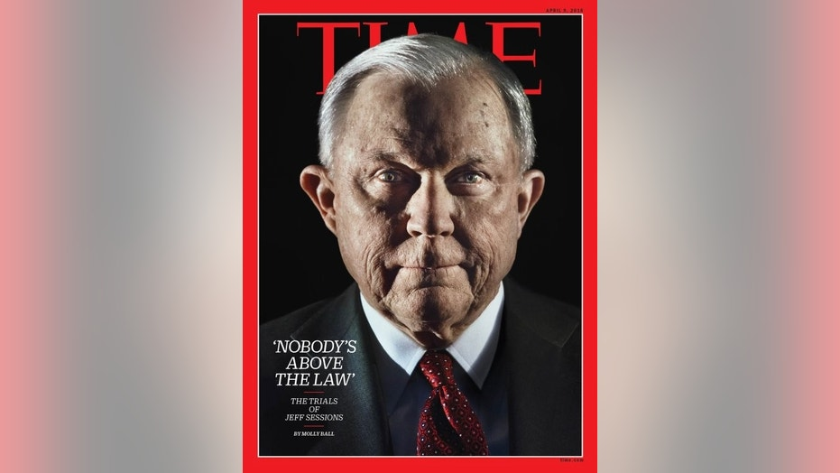 """The latest edition of Time magazine features of cover photo of Jeff Sessions that some are calling """"creepy."""""""