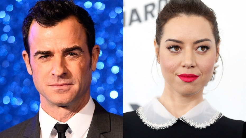 Justin Theroux and Aubrey Plaza were spotted together in Greenwich Village, New York.