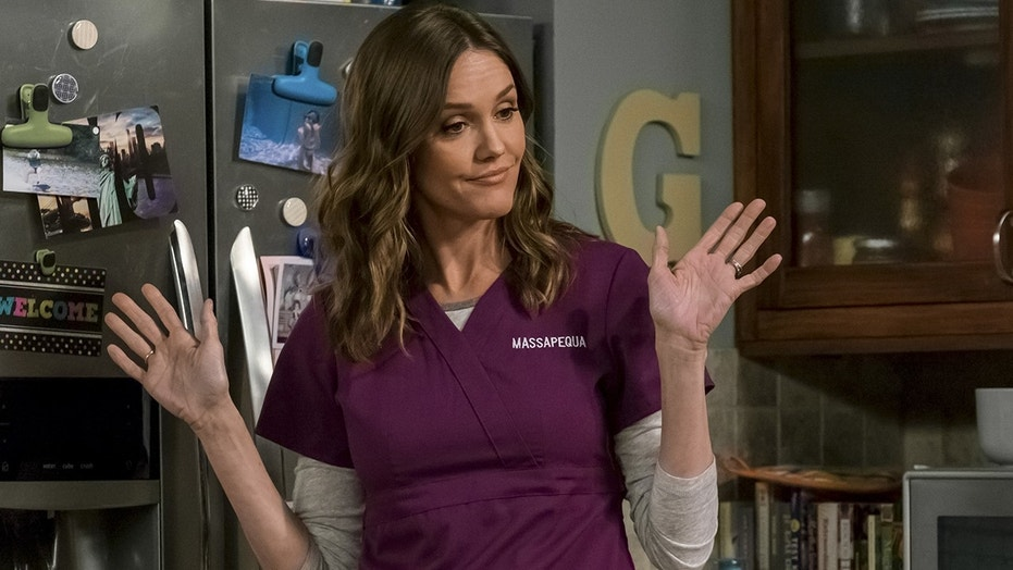 """Erinn Hayes is pictured in a scene of """"Kevin Can Wait"""" before she was fired from the show."""