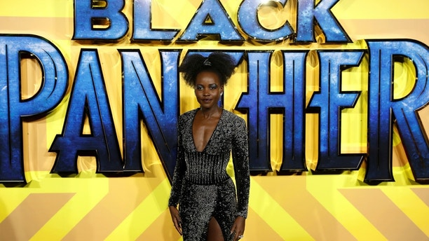 Actor Lupita Nyong'o arrives at the premiere of the new Marvel superhero film 'Black Panther' in London, Britain February 8, 2018. REUTERS/Peter Nicholls - RC1368E95B30