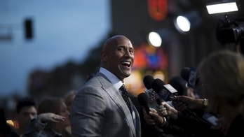 "Cast member Dwayne Johnson is interviewed at the premiere of ""San Andreas"" in Hollywood, California May 26, 2015. The movie opens in the U.S. on May 29.  REUTERS/Mario Anzuoni - GF10000108611"