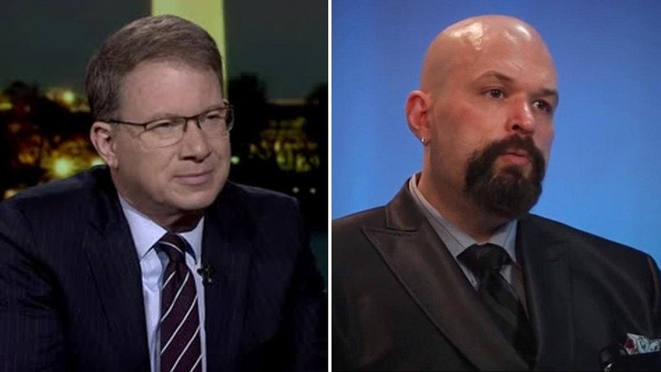 The Atlantic editor-in-chief Jeffrey Goldberg, left, and former National Review writer Kevin Williamson.