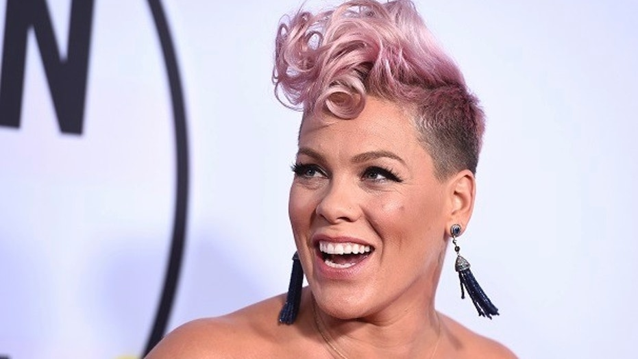 """Pink forgot the lyrics to her hit song """"Who Knew"""" during a concert at New York City's Madison Square Garden on April 4, 2018."""
