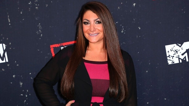 """Deena Nicole Cortese arrives at the LA Premiere of """"Jersey Shore Family Vacation"""" on Thursday, March 29, in Los Angeles. (Photo by Willy Sanjuan/Invision/AP)"""