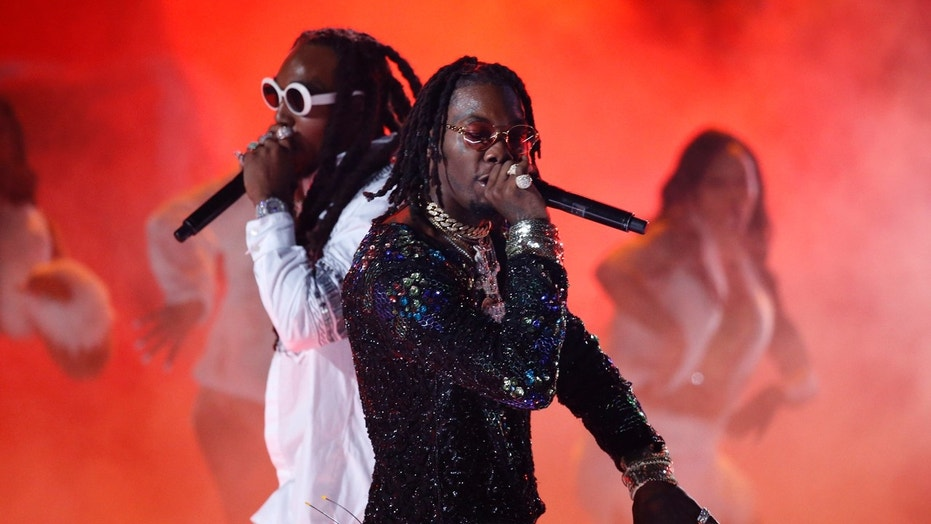 Migos performs at the 2017 BET Awards in Los Angeles.