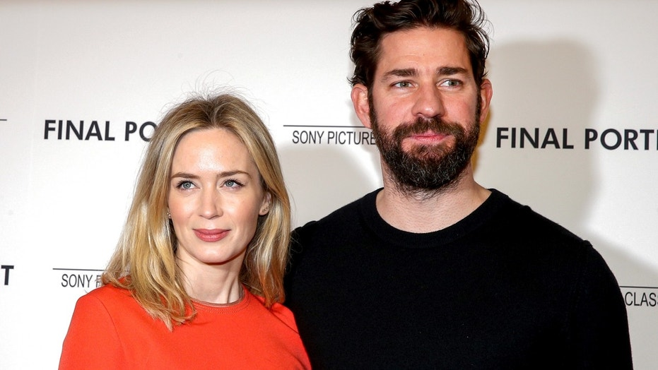 Actors Emily Blunt and John Krasinski arrive for a special screening of 'Final Portrait' in New York, U.S., March 22, 2018.