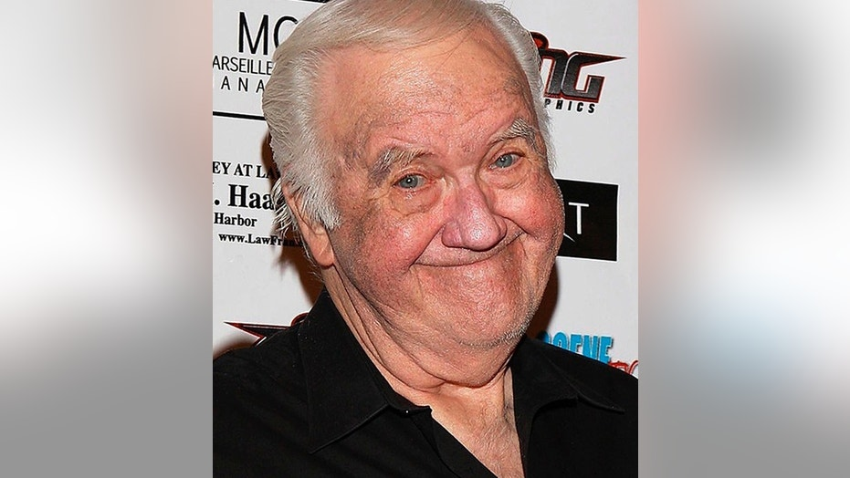 """In this Sept. 10, 2010, photo, Chuck McCann Motorcycle Charity Associates presents its 4th annual Leather Meets Lace event benefiting Iraq Star Foundation and Heroes Night Out at the Playboy Mansion Los Angeles. Actor and comedian McCann, who recorded the famous line """"I'm cuckoo for Cocoa Puffs!"""" has died. He was 83. His publicist Edward Lozzi says McCann died Sunday, April 9. 2018, of congestive heart failure in a Los Angeles hospital."""