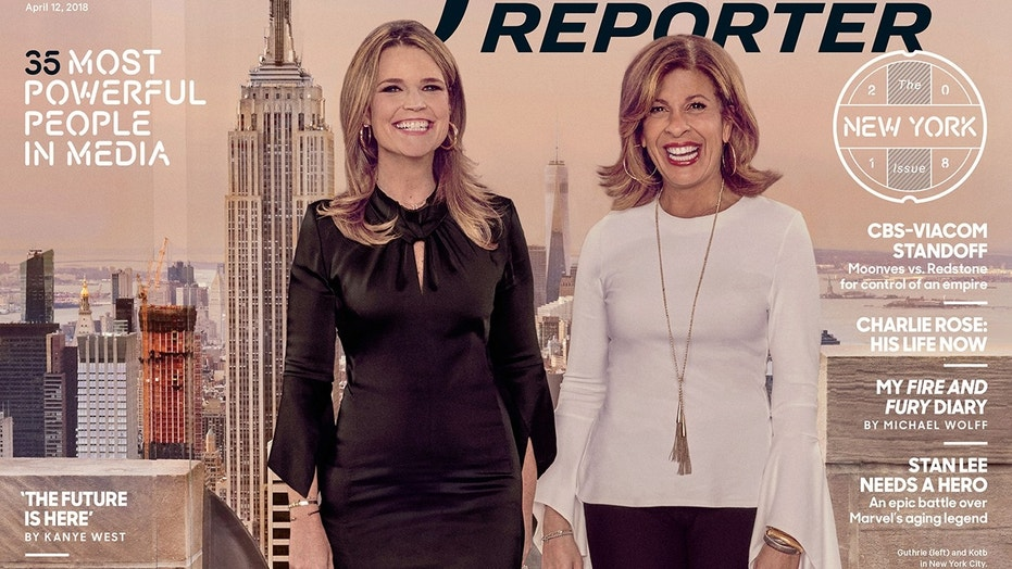 """Today"" co-hosts Savannah Guthrie (left) and Hoda Kotb appear on the cover of The Hollywood Reporter."
